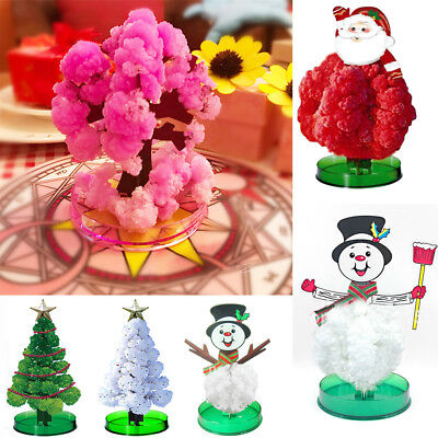 New Magic Growing Crystal Christmas Tree Kit Paper Decorations Science Toy EDC