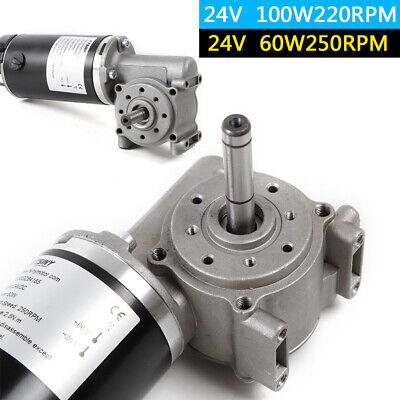 24v Dc 60w 100w Worm Gear Reducer Powerful High Torque Motor Gearbox Door Robot