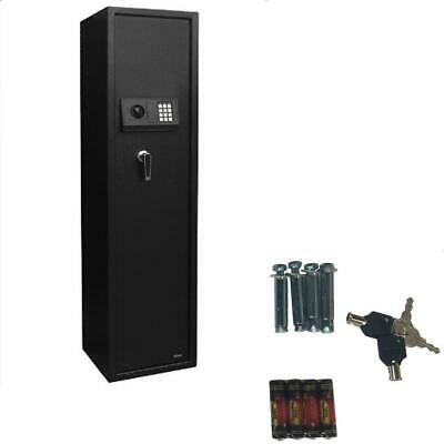 New Large 5 Rifle Digital Gun Safe Electronic Lock Storage Steel Cabinet Firearm
