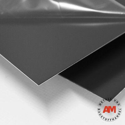 ALUMINIUMBLECH beschichtet RAL 7016 500x1000mm 0,8mm Dachblech Anthrazitgrau