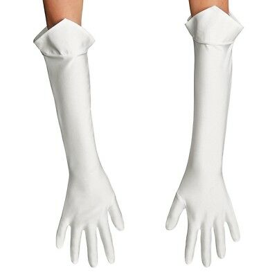 Nintendo Super Mario Bros. Princess Peach Costume Gloves Accessory Adult White - Super Mario Bros Princess Costume