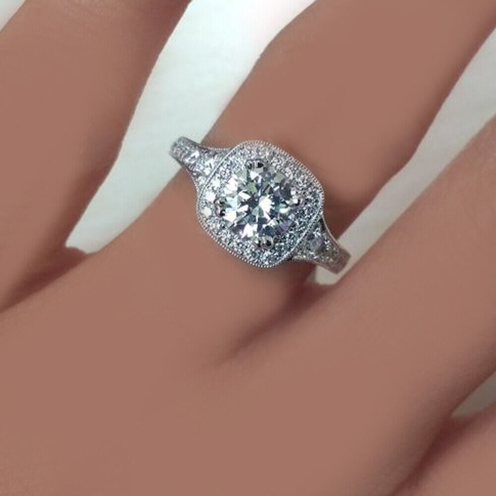 GIA Certified Diamond Engagement Ring 1.73  carat Cushion Shape 18K Gold