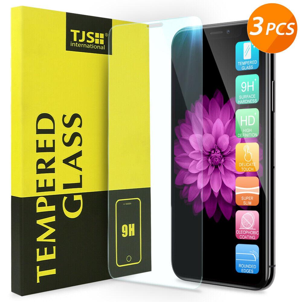 3Pcs Apple iPhone XS Max/XS/XR/ X 8 7 6 6s Plus Tempered Gla