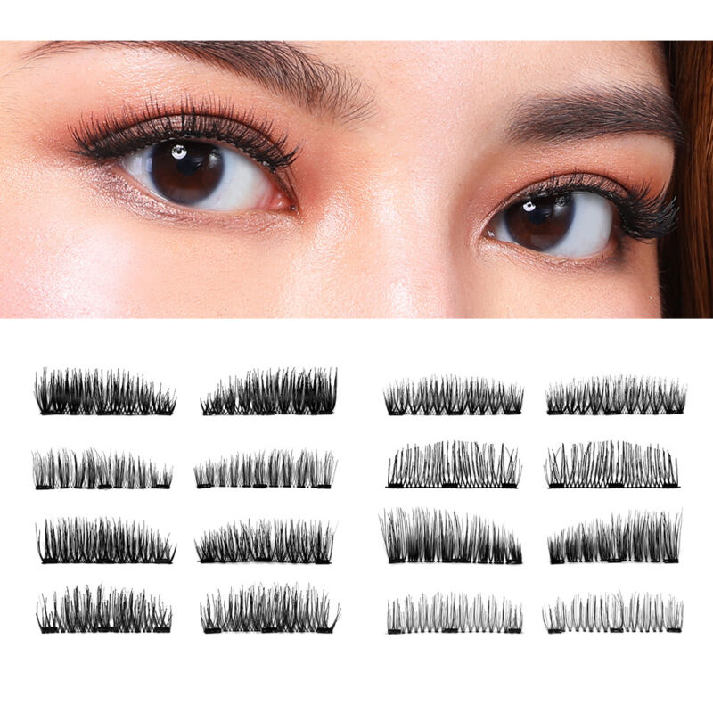 BONNIE CHOICE 3D Magnetic False Eyelashes Hand Made Thick Re
