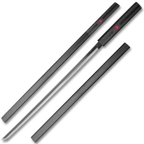 Black Naruto Sasuke Kusanagi Grass Cutter Steel Ninja Sword  Cosplay Straitblade