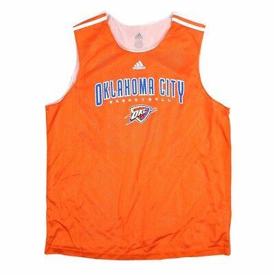 Adidas Nba Top (Oklahoma City Adidas NBA Mesh Orange Practice Tank Top Men's )