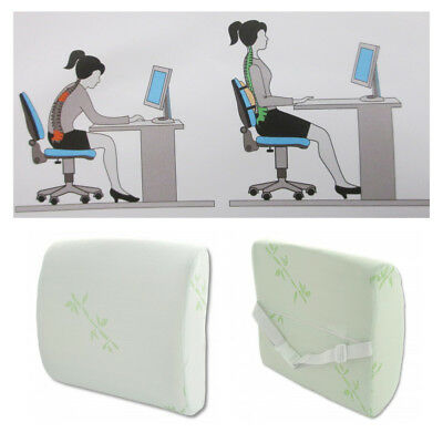 Lower Back Pillow Support Lumbar Cushion Pain Relief Rest Car Office Chairs Seat