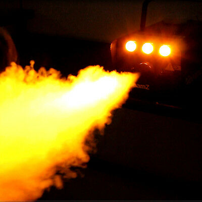Flame effect with Beamz amber LED fog machine
