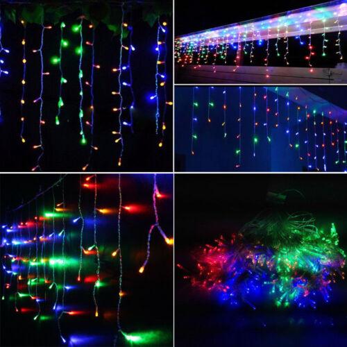LED Christmas Fairy Icicle Lights Lamps Wedding Party Indoor Outdoor Decoration