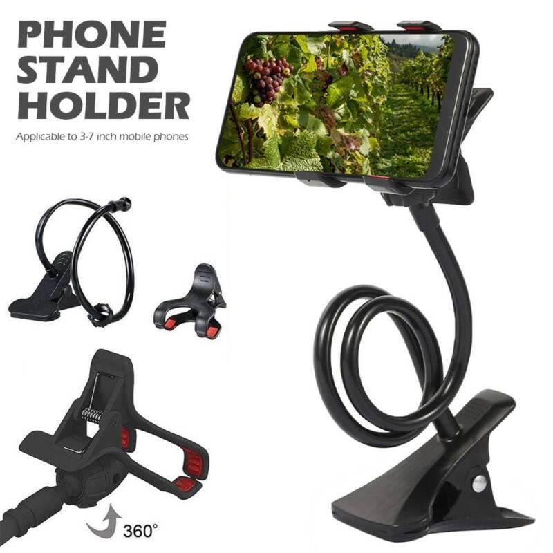 360° Halterung Tisch & Bett Schwanenhals Halter Ständer für Handy Smartphone EGM