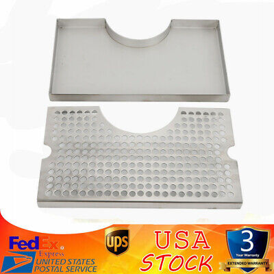 Stainless Steel Tap Draft Beer Kegerator Tower Drip Tray No Drain