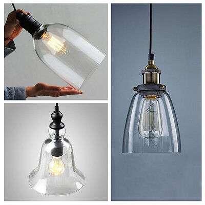 4 Type Clear Glass Vintage Pendant Light Fixture