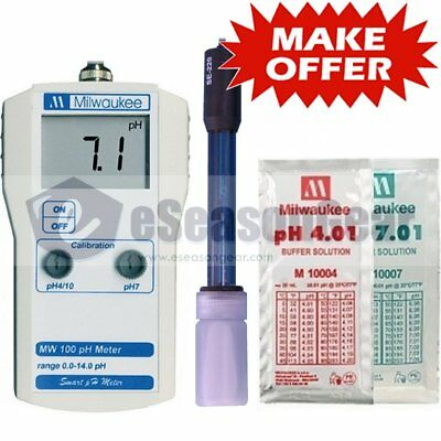 Milwaukee Mw100 Ph Meter Digital W Se220 Probe Solutions Tester New