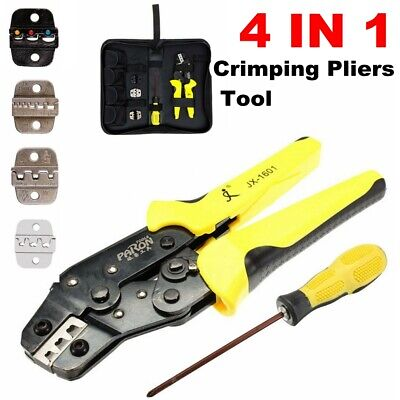 4 In 1 Jx-d4 Wire Terminals Connector Ratcheting Crimper Crimping Tool Set Usa