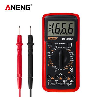 Lcd Acdc Dt-9205a Digital Multimeter Ammeter Resistance Capacitance Tester