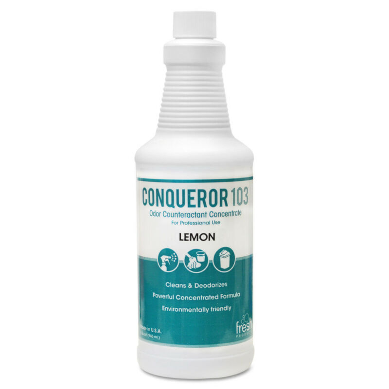 Fresh Products Conqueror 103 Odor Counteractant Concentrate, Lemon, 32oz Bottle,