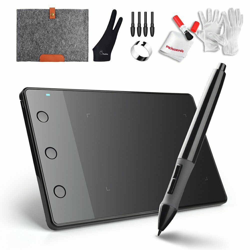 Graphics Drawing Tablet Digital Pen Board Kit Art Painting 2
