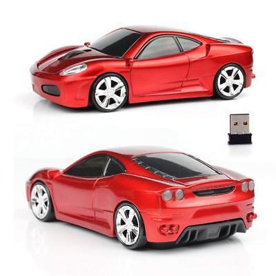 UK New 2.4GHz Wireless 3D 1600DPI Ferrari Car Shape Optical Usb Gaming Mouse