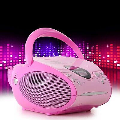 Tragbare Mädchen Stereo Anlage Kinder Musikspieler CD Player Lenco SCD-24 pink online kaufen