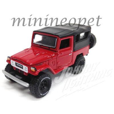 Johnny Lightning Jlcp7063 B 1980 Toyota Land Cruiser 1 64 Black Top Red