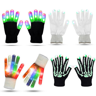 Zoetouch LED Gloves Finger Lights Flashing Gloves Fingertip Led Lighted Gloves](Finger Lights Gloves)