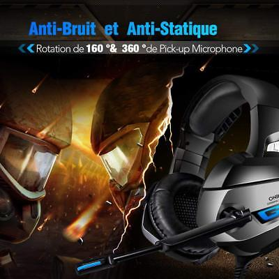 Casque Gaming Son 7.1 Surround avec Microphone pour PS4 Xbox One