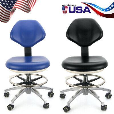 Dental Stool Doctors Stool Adjustable Dentist Mobile Chair Pu Leather
