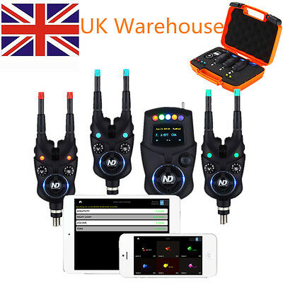 Brand New 3+1 NEW Set Direction Tackle Bluetooth Bite Alarm For Carp Fishing