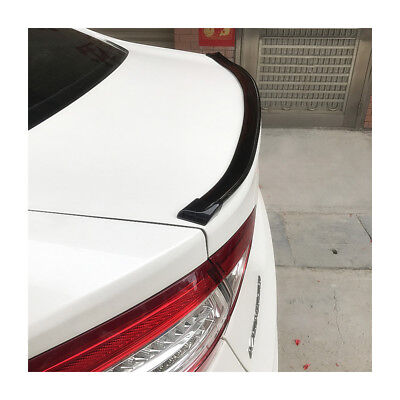 4.9Ft Car Roof Rear Wing Lip Spoiler Tail Trunk Trim Sticker Decor Rubber Glossy