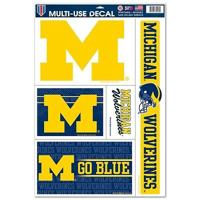 Michigan Wolverines 11x17 Ultra Decal Sheet [NEW] Car Auto Sticker Emblem Cling