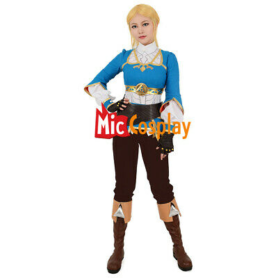 Female Princess Zelda Cosplay Costume of The Legend of Zelda Breath of the Wild