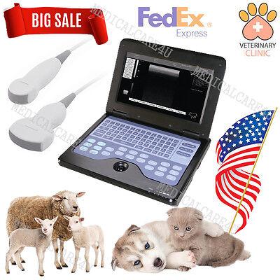 Usa Veterinary Ultrasound Scanner Laptop Machine 2 Probes Sheepdogpigcatpet