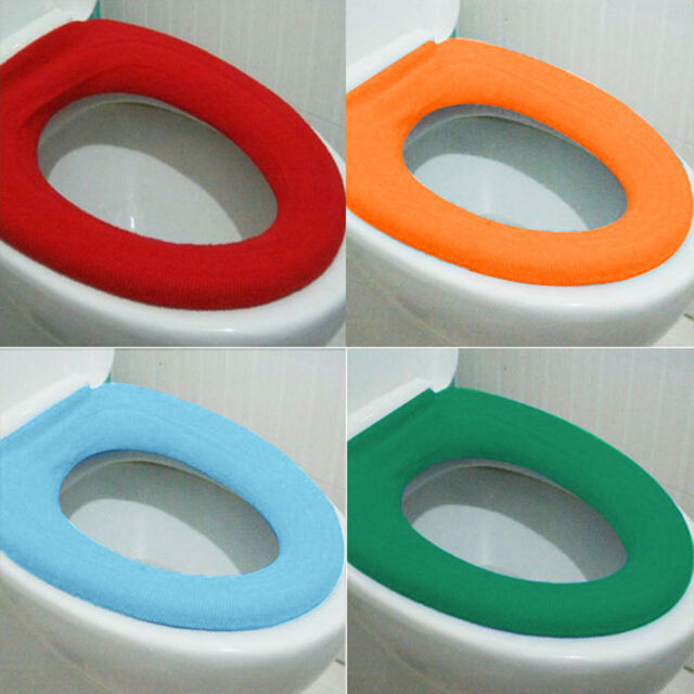 UK Washable Soft WC Toilet osestool oth Seat Lid Warm Cover Pads Bathroom A+ B