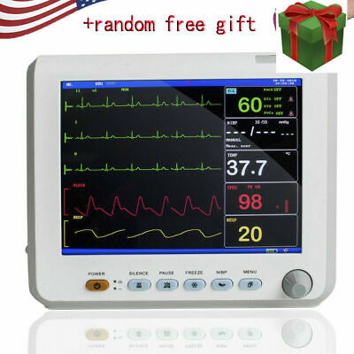 NEW PATIENT MONITOR HOSPITAL CARDIAC MONITOR MACHINE ECG NIBP RESP PR SPO2 TEMP FAST