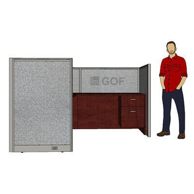 GOF 1 Person Workstation Cubicle(5'D x 6'W x 4'H) /Office Partition,Room Divider Office Cubicle Divider