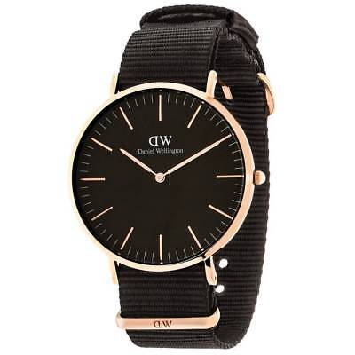 Daniel Wellington DW00100148 Classic Black Cornwall 40mm Nylon Mens Watch