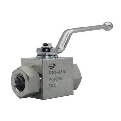 12 Npt Hydraulic Ball Valve 4560 Psi 3 Way Steel
