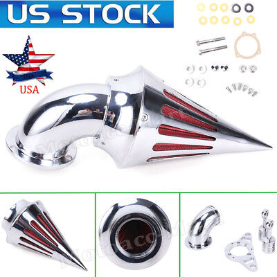 Motorcycle Billet Cone Spike Cover Air Intake Cleaner Filter Kit For Harley Dyna