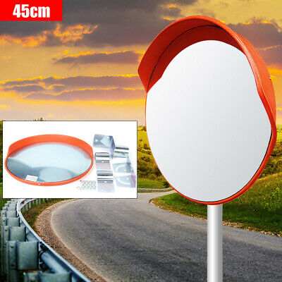 18 Wide Angle Traffic Convex Mirror Pc Plastic Outdoor Driveway Road Safety Top