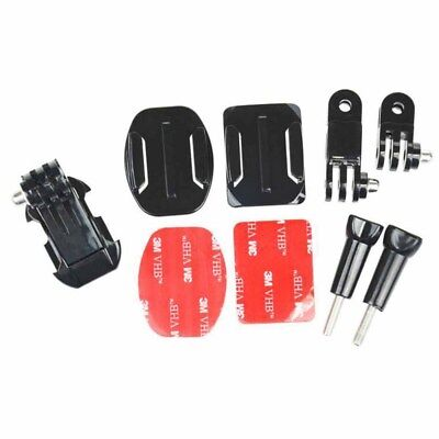 Helmet Front Side Mounting Kit with Curved and Flat mount for Gopro 2 3 3+ 4 (Helmet Mounting)