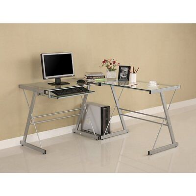 Walker Edison 3-piece Contemporary Desk Computer Desk