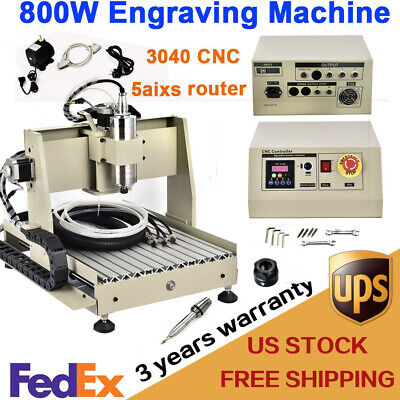 Usb 5 Axis Cnc Router 3040 Engraver 800w Engraving Drilling Milling Machine