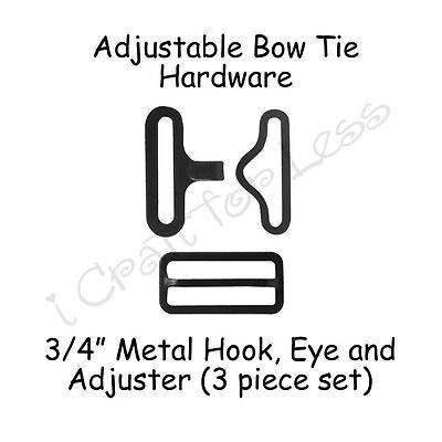 Adjustable Bow Tie / Necktie Hardware - 3/4