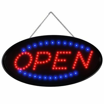 1910 Animated Motion Oval Open Business Sign Led Neon Light Bar Store Display