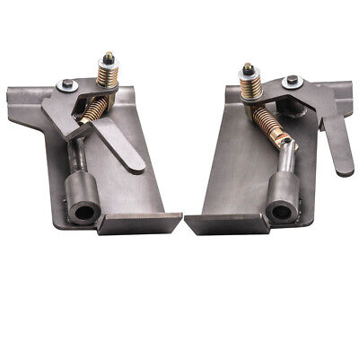Pair Universal Weld-on Skid Steer Quick Attach Conversion Adapter Quick Tach