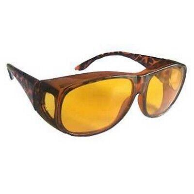 Nachtsichtbrille Überziehbrille Nachtfahrbrille Fahrbrille gelbe Gläser