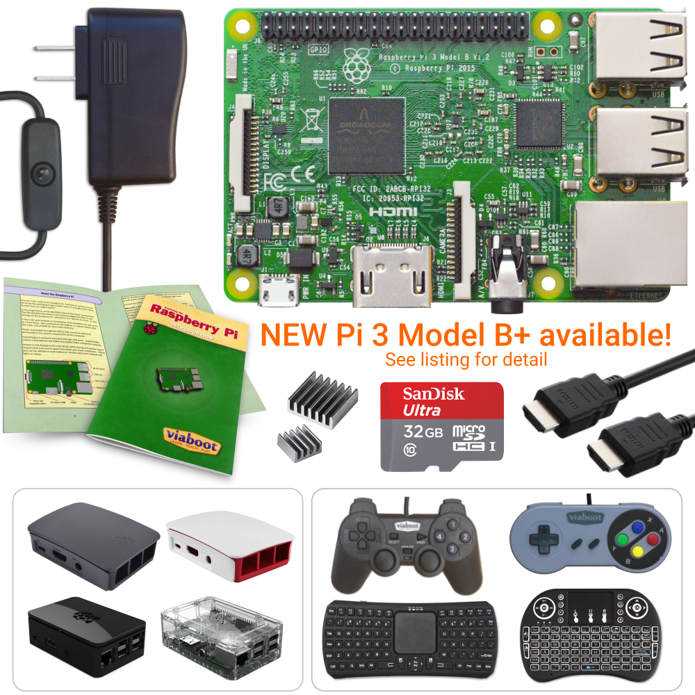 NEW LOW PRICES! Raspberry Pi 3 Model B - Create Your Kit - P