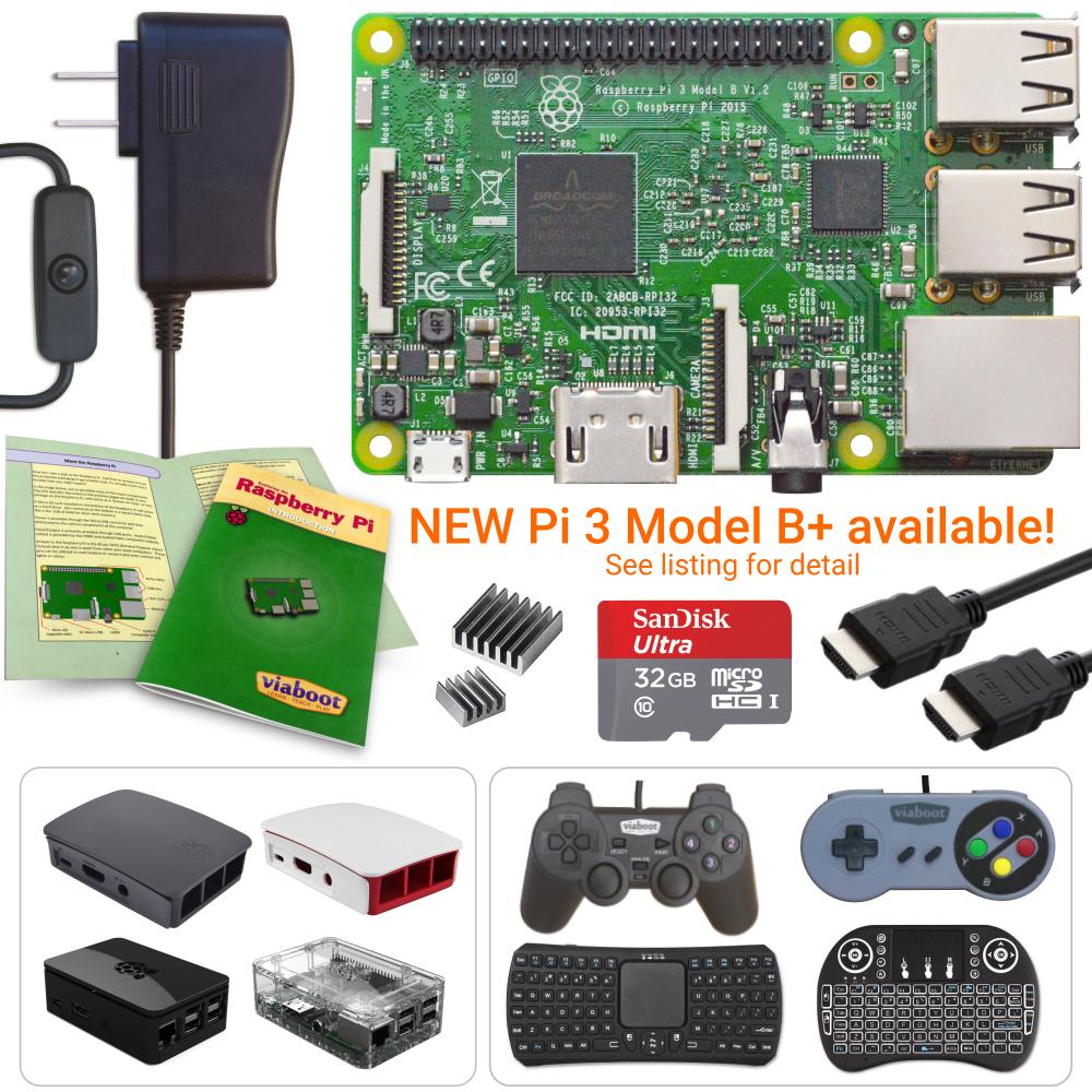 NEW LOW PRICES! Raspberry Pi 3 Model B - Create Your Kit - Premium Case Edition