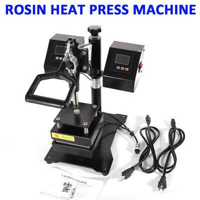US Updated Rosin Heat Press Machine Dual Heating Elements Swing-Arm Manual
