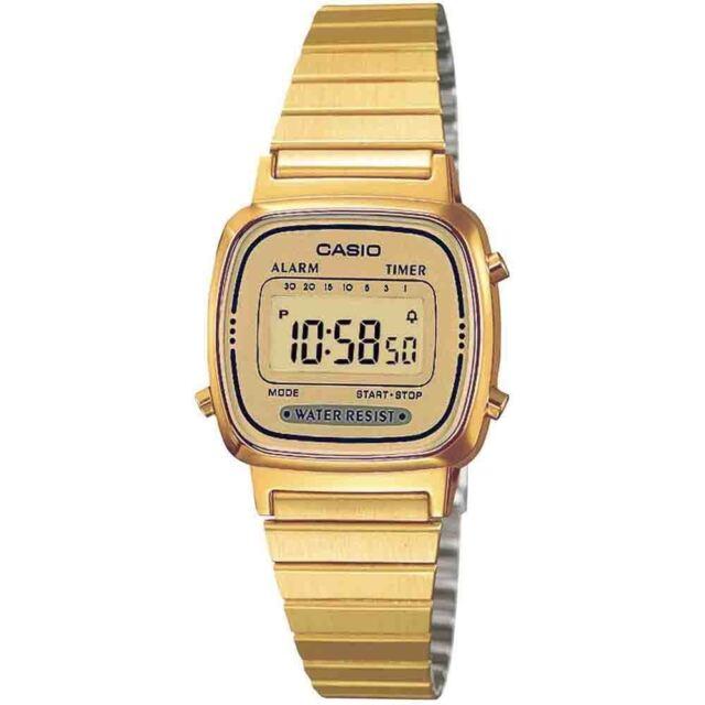 Casio LA670WEGA-9EF Gold Plated Water Resistant Digital Alarm Ladies Watch New